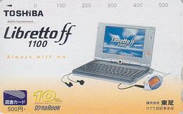 Carte Prépayée Japon - ORDINATEUR PORTABLE TOSHIBA LIBRETTOFF - COMPUTER / DYNABOOK Japan Prepaid Tosho Card - 23 - Werbung