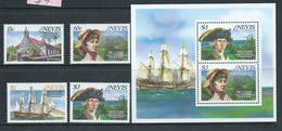 Nevis 1987 Horatio Nelson Wedding Anniversary Set 4 & Miniature Sheet MNH