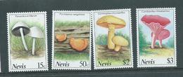 Nevis 1987 Mushroom Fungus Set MNH
