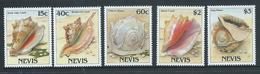 Nevis 1988 Marine Shells Set Of 5 MNH