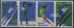 Sierra Leone 1997 Olympic Winter Games 4v [:::], (Mint NH), Sport - Olympic Winter Games - Skating - Skiing