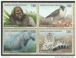 UN Geneva 1993  Sc#231a  WWF Endangered Species Block    MNH**  2016 Scott Value $4.50