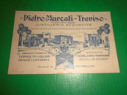Cartolina Treviso - Distilleria Fabbrica Liquori Pietro Marcati 1900 Ca - Treviso