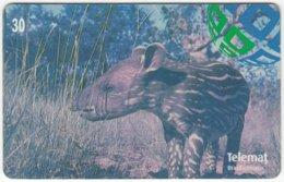 BRASIL E-968 Magnetic Telemat - Animal, Tapir - Used