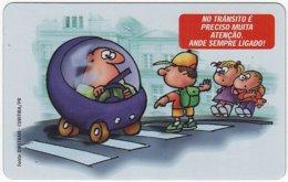 BRASIL E-996 Magnetic Telepar - Cartoon, Traffic, Safety - Used