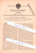Original Patent - Melvin Donally In Brooklyn , 1896 , Flaschenspülmaschine Für Außen- Und Innenreinigung !!! - Historische Dokumente