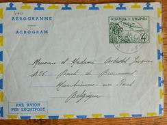 CONGO BELGE :TRES BEAU AEROGRAMME  OBLITERATION DE SHANGUGU   DE 1961  VERS MARCHIENNE AU PONT