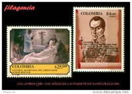 AMERICA. COLOMBIA MINT. 1980 SESQUICENTENARIO DE LA MUERTE DE SIMON BOLÍVAR