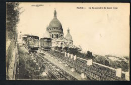 PARIS Photo Jules SEEBERGER -  Le Funiculaire Du Sacré-Coeur- Beau Plan- Recto Verso-Paypal Sans Frais - Transport Urbain En Surface