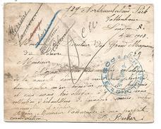CURIEUX CACHET ECHANTILLONS POSTE DU 6/3/1903 APPOSE A L'ARRIVEE D'UNE CARTE PROVENANT DE GRANDE BRETAGNE - Cachets Manuels