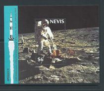 Nevis 1989 Apollo Space Moon Landing Anniversary Miniature Sheet MNH