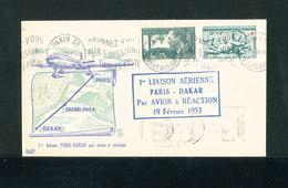 FRANCE - Enveloppe Commémorative 1ère Liaison Par Avion à Réaction PARIS / DAKAR 19 Février 1953