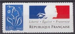 """Timbre Lamouche 060€ Bleu Phil@poste Autocollant YT N°3966A Et Spink N°64 Personnalisation """"République Française"""""""