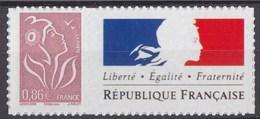 """Timbre Lamouche 0.86€ Lilas Bun Phil@poste Autocollant YT N°3969A Et Spink N°65 Personnalisation """"République França"""