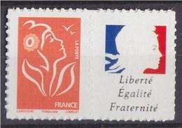 Timbre Lamouche TVP Phil@poste Autocollant YT N°4048T Spink (N°67) Personnalisation Marianne Liberté Egalité Fraternité