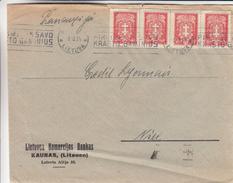 Lituanie - Lettre De 1934 ° - Oblit Kaunas - Exp Vers Nice En France