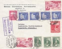 Brief, 1952, Armenia, Quindio, Kolumbien, Nach Remscheid, Siehe Beschreibung