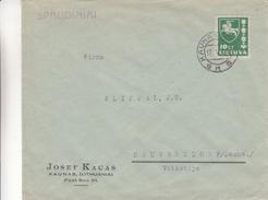 Lituanie - Lettre De 1939 ° - Oblit Kaunas - Exp Vers Neugersdorf En Allemagne - Armoiries - Lithuania