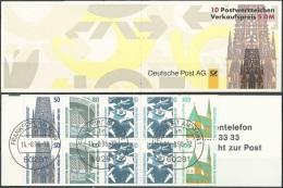 DEUTSCHLAND 1996 Mi-Nr. Markenheft 34 O Used - Aus ABO