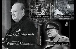 Guernsey 2015 Miniature Sheet - The Life Of Winston Churchill