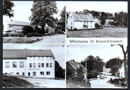 A4615 - Alte MBK Ansichtskarte - Mittelsaida Kr. Barnd Erbisdorf Schule Konsum Gaststätte Saidenbach - Brand-Erbisdorf