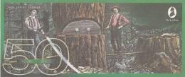 Test Note - TDLR-135, $50, DeLaRue,logging With 2 Handed Saw - Falsi & Campioni