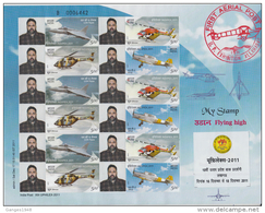 Special My Stamp   Aircraft  Helicoptor  UPHILEX  Sheet 2011  India  #  91006  Inde Indien