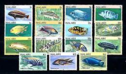 [50829] Malawi 1984 Marine Life Fish 15 Values MNH