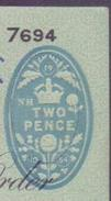 Great Britain UK GB - The Eastern Bank Limited, Old Cheque With 2 PENCE, (19 NH 1054) Embossed Pre-stamped 26.4.1955 - 1952-… : Elizabeth II