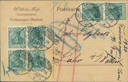 Furtwangen Baden, Postkarte Mit Eindruck Von Wilhelm Fuß, Colonialwaren, O 1920, Keine AK (20181) - Furtwangen