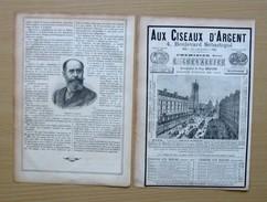 2 Scans 1895 Chemisier Aux Ciseaux D'Argent Boulevard Sébastopol Jean Et Hélène Casimir-Perier Lafargue Portrait 207CH2 - Non Classificati