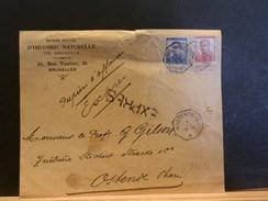 69/030   DEVANT DE LETTRE EXPRESS DE BRUXELLES POUR OOSTENDE - 1915-1920 Albert I.