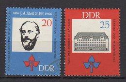 DDR / 100. Geburtstag Von Jan Arnost Smoler / MiNr. 1165, 1166