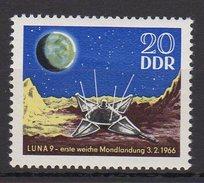 DDR / Erste Weiche Mondlandung Durch Luna 9 / MiNr. 1168