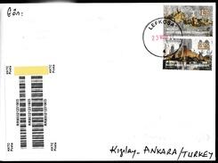 "KK-683A NORTHERN CYPRUS 2017 EUROPA CEPT CASTLES REGISTERED COVER ""RR"""