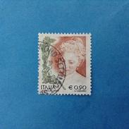 2004 ITALIA FRANCOBOLLO USATO STAMP USED - DONNE NELL'ARTE DONNA 0,90 - 6. 1946-.. Repubblica