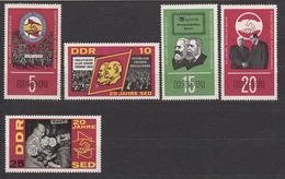 DDR / 20 Jahre Sozialistische Einheitspartei Deutschlands (SED) / MiNr. 1173-1177