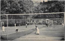CPA Uriage Tennis Dans L'Isère Circulé