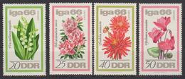 DDR / Internationale-Gartenbau-Ausstellung (IGA) / MiNr. 1189-1192