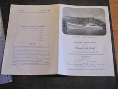 SS KENYA CASTLE - OFFICIAL RACE CARD - MONDAY JUNE 20th, 1960 - Bateaux
