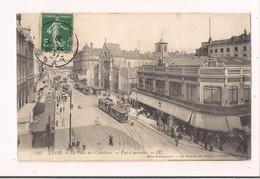 Lyon : La Place Des Cordeliers - Le Grand Bazar -tramways -1908 -Mme Charbonnier, 54 Passage De L'Argue - - Lyon