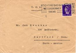 22.XI 1946 Brief Van Amsterdam Naar Hartford Met Enkelfrankering NVPH 339