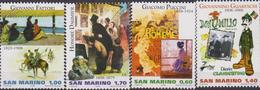 2008 San Marino Artisti Fattori / Daumier / Puccini / Guareschi  Set MNH