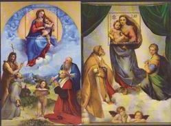 2012 Vaticano Foglietto Raffaello Madonna Sistina 2 Sheet Art Paiting