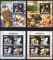 St.Thomas - 2006 - Owls.Birds.Mushrooms.Nature - Gold+Silver Foil - MNH -(AA7)