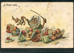 CPA - Illustration HERZIG - A L'Ecole Arabe