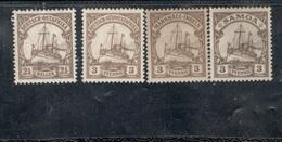 German Colony Lot 1900-19: Lot Of 4 Mnh**