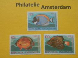 Indonesia 1973, FAUNA FISH FISCHE VISSEN POISSONS PECES PESCI: Mi 747-49, ** - Fishes