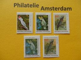 Indonesia 1981, FAUNA BIRDS OISEAUX VOGELS VÖGEL AVES: Mi 1030-32, +1033-34, **