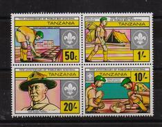 Tanzania , Scouting, Complete Set, MNH. Cv 7 Euro